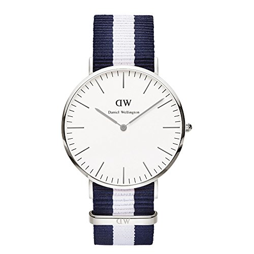 daniel wellington classic glasgow silver mens 40mm round. Black Bedroom Furniture Sets. Home Design Ideas