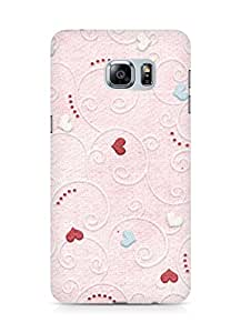 Amez designer printed 3d premium high quality back case cover for Samsung Galaxy S6 Edge Plus (Background heart pattern texture)