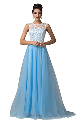 Grace Karin? Women's Lace Tulle Prom Ball Long Gowns Evening Dresses CL6108-6