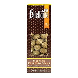 Chocolate Marbled Espresso Beans - 8oz Boxes - by Dilettante (4 Pack)
