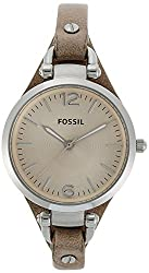 Fossil Georgia Analog Peach Dial Womens Watch - ES2830