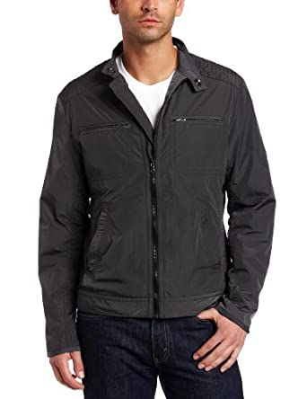 Kenneth Cole New York Men's Full Zip Jacket, Cave, Small