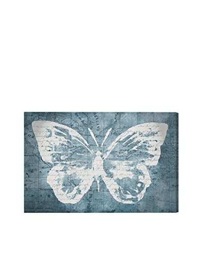 Oliver Gal 'Traveling Blue Butterfly' Canvas Art