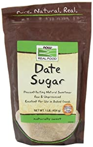 NOW Foods Date Sugar,  16 Ounce Bags (Pack of 4)