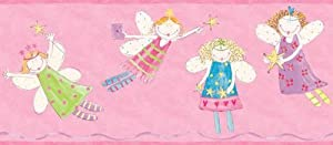 Pink Fairy Princess Wallpaper Border