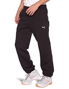 Puma Pantalon Homme Noir/Blanc FR : 38/40 (Taille Fabricant : S)
