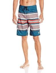 Billabong Men\'s All Day Stripe Boardshort, Petrol, 34