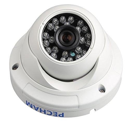 PECHAM 防犯カメラ 監視カメラ ドーム型 960H 水平解像度 1200TVL 赤外線LED36個 IRカット夜間撮影機能 広角レンズ搭載 防水金属カバー(ホワイト)増設用 単品