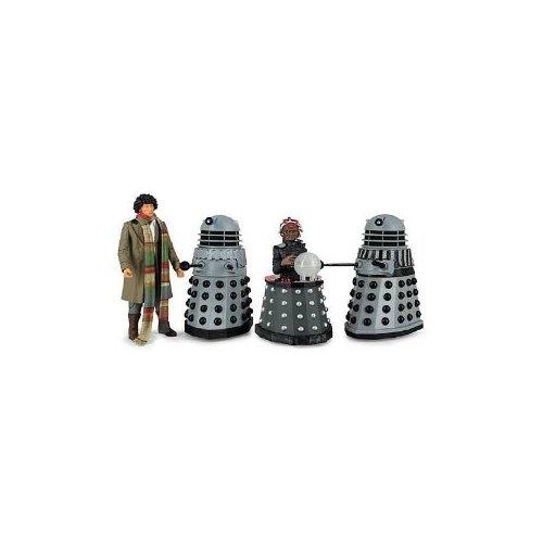 Doctor Who Destiny of the Daleks Fourth Doctor - Davros - 2 Daleks Action Figure 4-pack