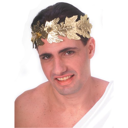 Rubie's Costume Men's Novelty Gold Foil Roman Wreath, Gold, One Size - 1