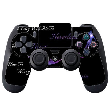 > > Decal Sticker < < Come Away To Neverland Quote Design Print Image PS4 DualShock4 Controller Vinyl Decal Sticker Skin by Trendy Accessories by Trendy Accessories