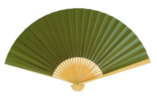 Japanese style fan Aya dark green...