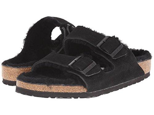 birkenstock-arizona-fur-suede-sandals-38-black