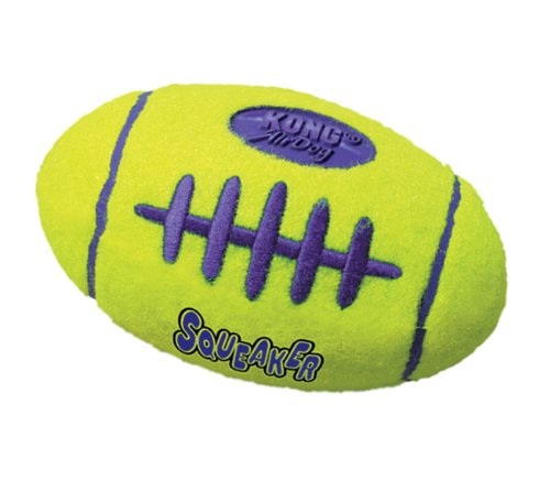 KONG Air Dog Squeaker Football Dog Toy, Large, Yellow
