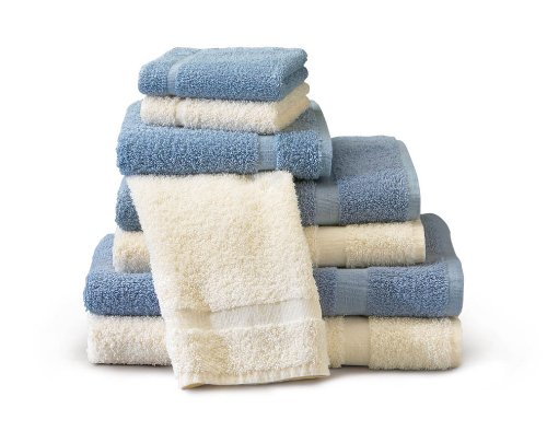 Medical Line Traditional Vat Dyed Colored Bath Blue Towels 24X48 7.75Lb front-952150