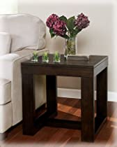 Hot Sale Ashley Furniture Watson Square End Table, Dark Brown
