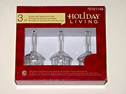 Holiday Living Bubble Light Replacement Bulbs 3-Pack Clear White C7 by Holiday Living