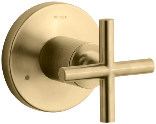 KOHLER K-T14491-3-BGD Purist Transfer Valve Trim with Cross Handle, Valve Not Included, Vibrant Moderne Brushed Gold