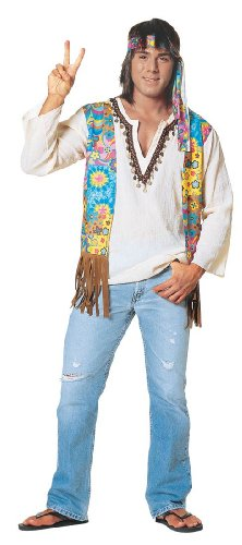 Franco American Novelty Hippie Dude Costume (flip flops and jeans not included)