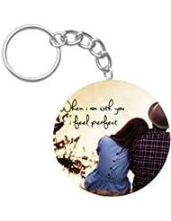 Love Couples | ShopTwiz WOODEN Circle Key Ring