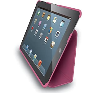 Elecom TB-A12PLFPN Leather Cover with Typing Stand for iPad 2012 (Pink)
