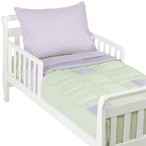 American Baby Company 1450-P CE Percale Toddler Bed Set, 4-Piece, Celery Patch