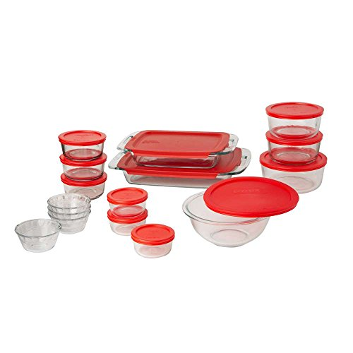 Pyrex Easy Grab 28-Piece Glass Bakeware and Food Storage Set (Baking Glass Bowl Set compare prices)