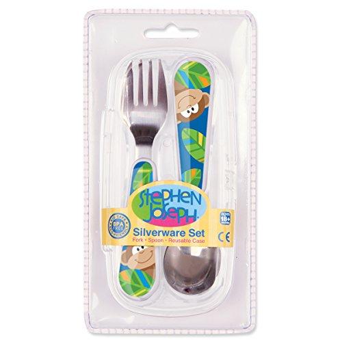 Stephen Joseph Fork And Spoon Set, Monkey
