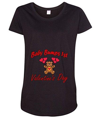 Baby Bump's First Valentinee's Day Teddy Bear Women's Maternity T-Shirt