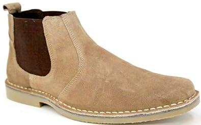 roamers m765 herren taupe wildleder neu desert boots schuhe billig schuhe. Black Bedroom Furniture Sets. Home Design Ideas