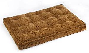 "Bowsers Luxury Dog Crate Mattress, Pecan Filgree, SML 17""x23""x3"" by Bowsers"