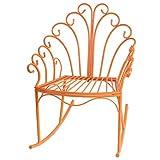 Wire Child's Rocking Chair Orange