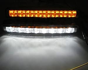 DRL Universal 8 LED + Amber Turn Signal Light