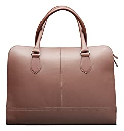 Su.B Women's 13'' 14'' inch Professional Design Laptop Bag Without Shoulder Strap Genuine Leather - Made in Italy - Brown