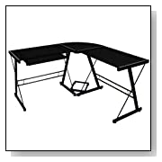 3-Piece Corner Office Desk with Steel Frame
