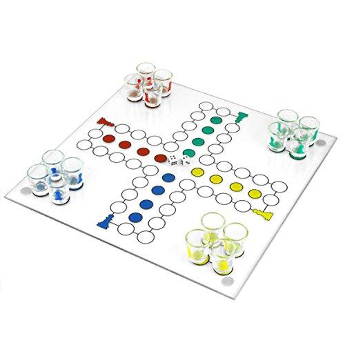 Trinken Brettspiel Set für 2-4Spieler, darunter 16Schnapsgläser und 2Würfel Fun Party Board Game Board Größe: 30x 30htuk®