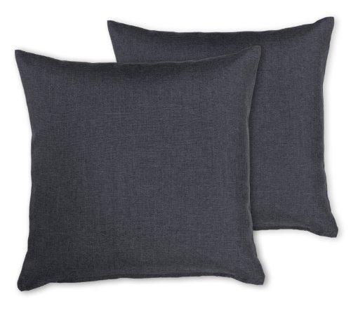 kissenh llen leinen optik 2 st ck kissen classic 40x40 cm 50x50 cm 40x60 cm 80x80 cm. Black Bedroom Furniture Sets. Home Design Ideas