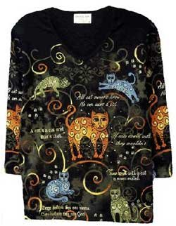 Cactus Bay Apparel Cats All Over Print T-Shirt XL