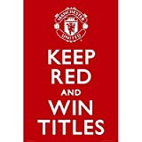 Manchester United - Keep Red Poster Print, 24x36 Poster Print, 24x36