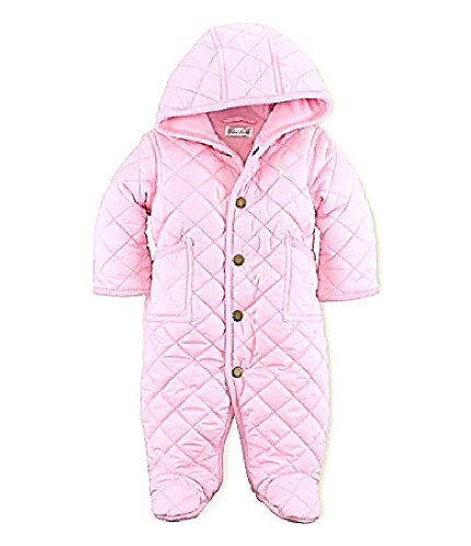 Baby Girl Polo Ralph Lauren Pink Quilted Bunting Outerwear Infant (3, 6, 9 Months) (9 Months)