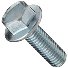 Class 8.8 Steel Cap Screw, Yellow Zinc Plated Finish, Flange Hex Head, External Hex Drive, Meets DIN 6921, Flanged, Serrated, 16mm Length, Fully Threaded, M8-1.25 Metric Coarse Threads, Imported (Pack of 50)