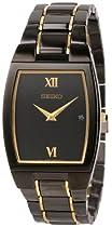 Hot Sale Seiko Men's SKP341 Dress Black Ion Watch