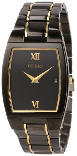 Seiko Men's SKP341 Dress Black Ion Watch