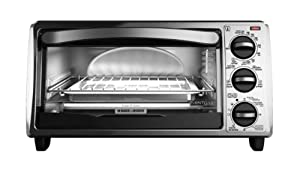 Black & Decker TO1313SBD 4-Slice Toaster Oven, Silver/Black from Applica Incorporated/DBA Black and Decker