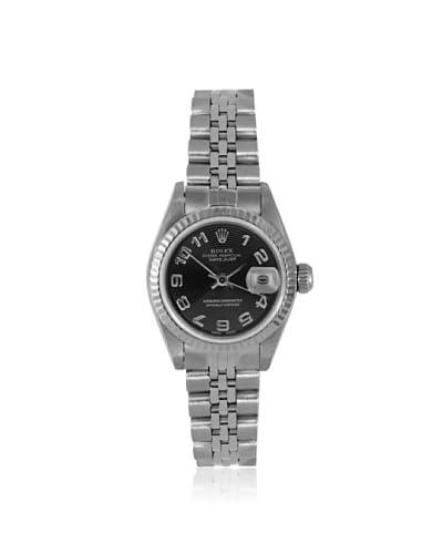 Rolex Women's MHMM-12 Datejust Stainless Steel/Black Watch