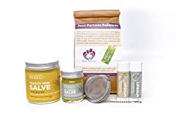 New Mama Natural Gift Box For A New Mother, With Organic Herbal Tea and Paraben Free Salve (Lotion, Cream, Moisturizer) New Baby Mother Gift, Ora's Amazing Herbal by Ora's Amazing Herbal