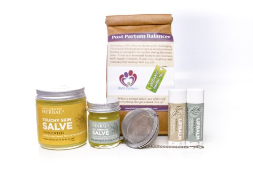 New Mama Natural Gift Box For A New Mother, With Organic Herbal Tea and Paraben Free Salve (Lotion, Cream, Moisturizer) New Baby Mother Gift, Ora's Amazing Herbal