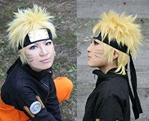 Naruto cosplay wig costume NARUTO tool yellow blonde wig with a net spiral WIG (japan import)