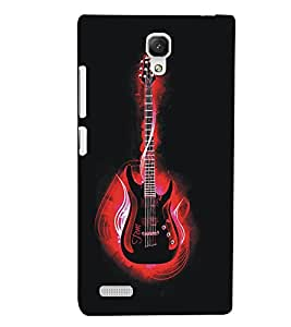 XIAOMI REDMINOTE RED GUITAR Designer Back Cover Case By PRINTSWAG