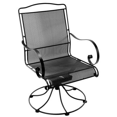 O.W. Lee Avalon Micro Mesh Swivel Outdoor Dining Armchair Patio Chair - 4374MM-SR-SP-44-GR23A
